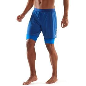 Skins DNAmic Superpose Hardloop Shorts Heren blauw